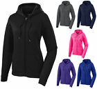 LADIES ZIP UP, MOISTURE WICKING, WARM-UP, HOODIE, POCKETS,  XS S M L XL 2X 3X 4X