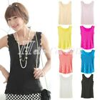 2014 Fashion Ladies Solid Sexy Lace Sleeveless Casual Vest Shirts Tops Blouses