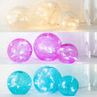 Set Of 3 Crackled Glass Indoor LED Fairy Light Orbs, Battery Operated Or Plug In