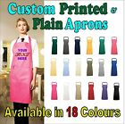 Custom Printed personalised Aprons with Your Text/logo in 18 colours