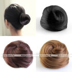 Lady Hair Extension Pony Tail Women Clip In On Hair Bun Hairpiece Scrunchie New