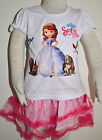 New Girls Sofia the First Top and Skirt Set Size 1,2,3,4,5,6