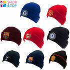 OFFICIAL FOOTBALL CLUB HAT CAP KNITTED TURN UP BEANIE LICENSED SOCCER TEAM FAN