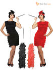 8-16 Flapper Costume & Feather Headband Cigarette Holder 20s Ladies Fancy Dress