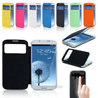 Luxury Flip Slim S-VIEW Smart Case Hard Cover For Samsung GALAXY S4 SIV I9500