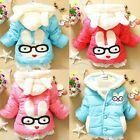 Fashion  Baby Kid Toddler Girl Clothing Jacket Outwear Bunny Coat Zip Snowsuit