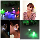 2014 SUPER CHEAP 6 Color LED Crystal Earring Glowing Light Up Ear Stud Xmas Club