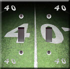 Light Switch Plate Cover - 40 yard line football field game - Sport champion