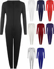 New Womens Hooded Zip Onesie Jumpsuit Ladies Trouser Playsuit All In One 8 - 14