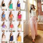 Women Casual Loose Sleeveless Chiffon Vest Tank T Shirt Tops Blouse Multi-Color