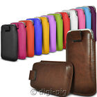COLOUR (PU) LEATHER PULL TAB POUCH CASES FOR HUAWEI ASCEND G6 MOBILE PHONES
