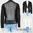 Womens Waterfall Cropped Open Short Blazer Cropped Jacket Black Ladies Blazer