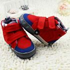 Baby boy girl casual classic red Crib Shoes soft soled Shoes Size 0-6-12-18 mths