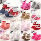 New Cute newborn Baby shoes Boots Sales Toddler Soft Sole Crib Infant Shoes UK