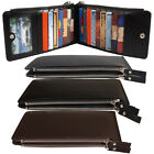 """For 5.5"""" iPhone 6 Plus Leather Credit Card Money Holder Zipper Wallet ZY"""