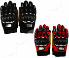 New Pair of Protective Gloves Black/Red For Motorcycle/Bike/Motorbike Racing