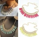 1PC Crystal Pendant Chain Choker Chunky Statement Bib Link Women Necklace