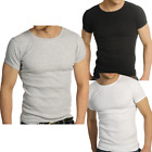 Mens Raiken Ribbed Crew Neck Slim Fitted T-Shirt Mens Size