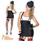 Sexy Gangster Girl Costume Adult 20s Moll Fancy Dress Leg Avenue Outfit UK 10-12