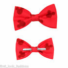 Red Mickey Mouse Clip On Bow Tie Men / Boys