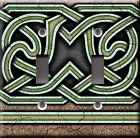 Light Switch Plate Cover - Celtic design - Gothic antique middle age knight deco