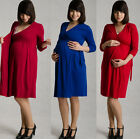 MIJA / 2in 1 Elegant Maternity & Nursing Pregnancy Dress easy breastfeeding