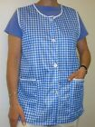 1 Ladies Checked Sleeveless Tabard Apron Tabbard Work Overall / Elaine / UK 8-30