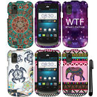 For ZTE Avail 2 Z992 Prelude Z993 PATTERN HARD Protector Case Phone Cover + Pen