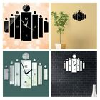 Trend DIY Rectangle Wall Clock 3D Mirror Sticker Watch Home Decor Unique Gift LA