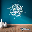 Compass Rose Mandala Vinyl Wall or Ceiling Decal world map home art decor K563