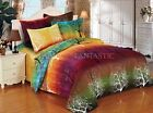 RAINBOW TREE Queen/King Size Bed Duvet/Quilt Cover Pillowcases Set New