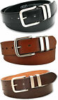Mens Ossi® Black Brown Tan Leather Lined 38mm Jeans Belt with Gift Box Option