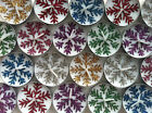 BN 6 Unscented White Tea Lights with Henna & Colour Glitter Snowflake Designs
