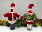 Father Christmas Wine Bottle Cover Jumper Hat Table Decoration Gift Bag New