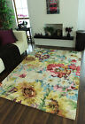 Luxury Hand Woven Modern Blue Living Area Rugs New High End Colourful Floral Mat
