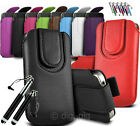COLOUR (PU) LEATHER MAGNETIC BUTTON PULL TAB POUCH FOR SAMSUNG GALAXY S III MINI
