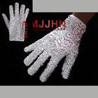 Handmade MJ Michael Jackson Crystal Handmade 100 Glove Billie Jean Both Side