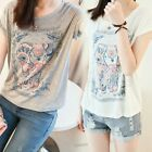 2014 Women Cotton Blend Thin Basic T-Shirt Blouse Girls Short Sleeve Tees Tops