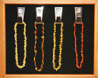 """Polished Baltic Amber chip Teething Necklace ~ 12"""" long screw clasp"""