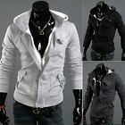 New Mens Slim Fit Fleece Sweatshirt Hood Hoody hoodie Hooded Jacket Top Coat dg