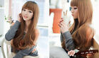 Cosplay Party Lolita Women Long Wave Curly Hair With Bangs Full Wigs 4 Colors