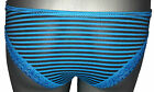 Ladies Sexy Striped Knickers with Sexy Lace Trim French Knickers Briefs Lingerie