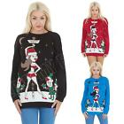 Womens Mens Pole Dancing Vixen Reindeer Christmas Novelty Jumper Top Size S M L
