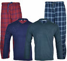 PJ3 New Mens Flannel Checked Fleece Set Sleeping Pyjamas Night Suit Gift