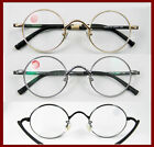 Vintage 45mm Round Men Optical lens-able Eyeglass frames black/gold/gunmetal