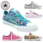 Ladies Womens Converse Canvas Shoes All Star Trainer Rubber Sole Size 3 4 5 6 7