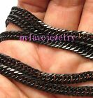 4.3mm Long Lasting Never Fade IP Black Cuban 316L Stainless Steel Necklace