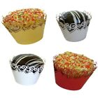 New 12x Heart Cupcake Wrappers Wedding Party Cup Cake Case Cut Decorations