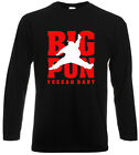 New AIR PUN BIG PUN Yeeeah Baby Rap Hip Hop Long Sleeve Black T-Shirt Size S-3XL