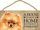 Pomeranian Wood Dog Sign Wall Plaque 5 x 10